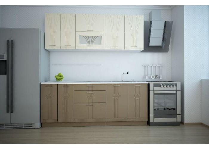 Кухонный гарнитур Лира 2,0 Ваниль/Латте