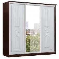Атлантида Шкаф Купе 3х дверь+зеркало+дверь (2180x2280x710)