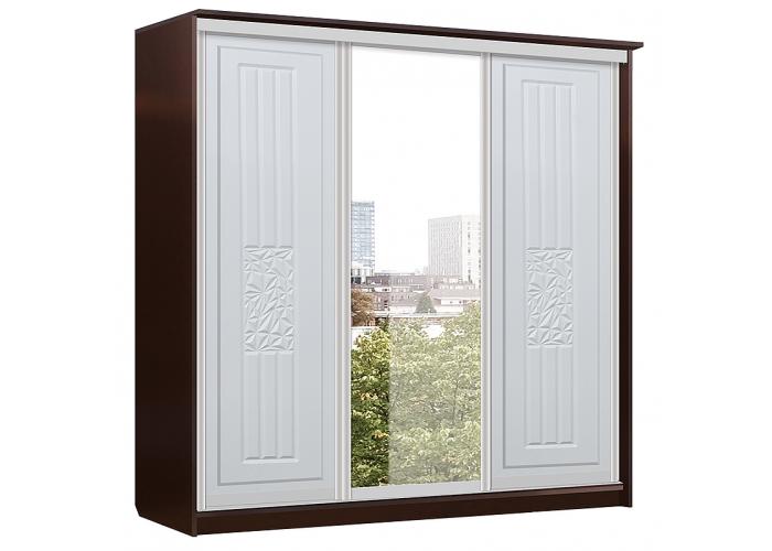 Атлантида Шкаф Купе 3х дверь+зеркало+дверь (2180x2280x710) в Калуге