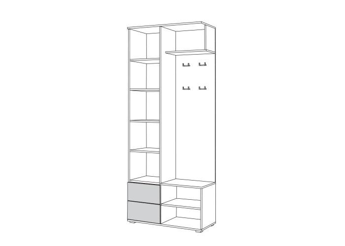 Куба Шкаф комбинированный 10.14 (2106x864x383) в Калуге