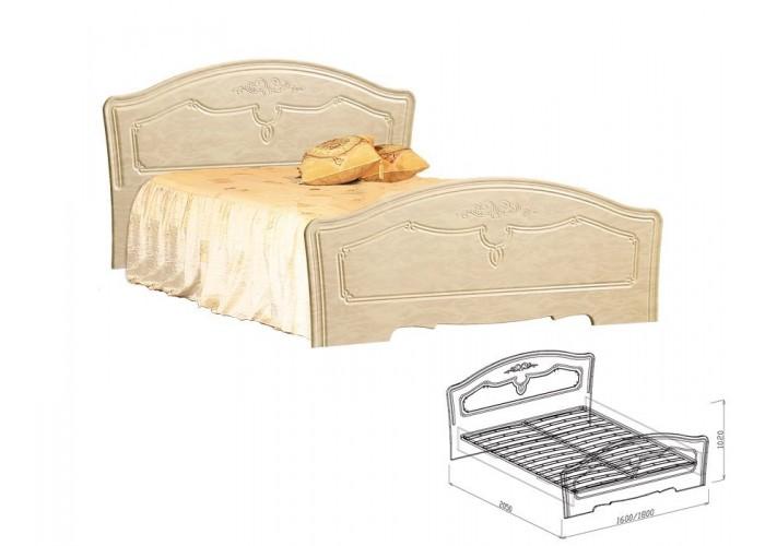 Лира Кровать №1 (1020x1600x2050) в Калуге