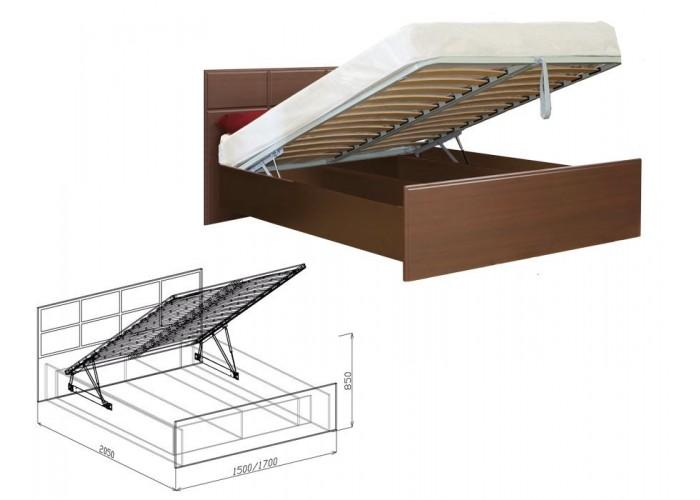 Палермо Кровать №1 подъёмная (850x1500x2050) в Калуге