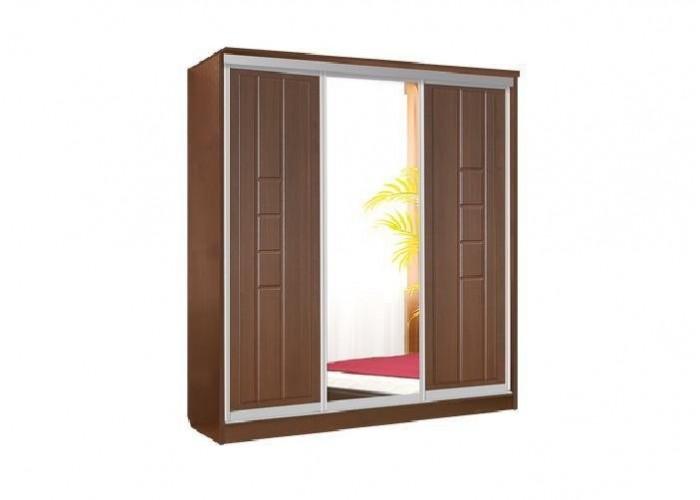 Палермо Шкаф 3х купе Дверь+Зеркало+Дверь (2180x2280x710) в Калуге