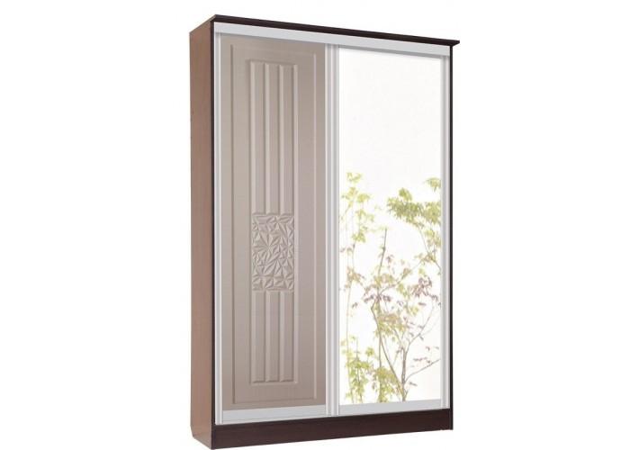 Роберта Шкаф Купе 2х Дверь+Зеркало (2180x1540x710) в Калуге
