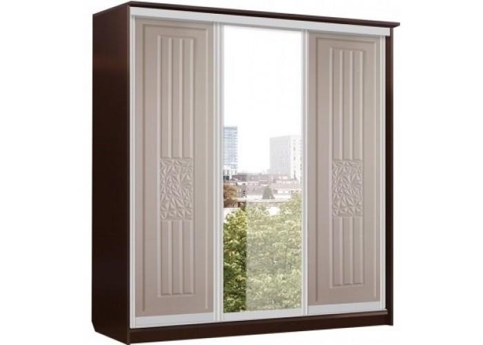 Роберта Шкаф Купе 3х Дверь+Зеркало+Дверь (2180x2280x710) в Калуге