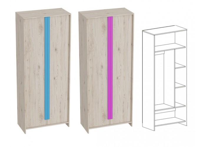 Шкаф 2-дверный Скаут Индиго (1990x800x420) в Калуге