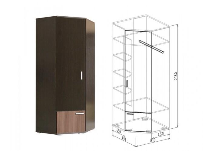 Статус Шкаф угловой №10 (2180x810(450)x810(450)) в Калуге
