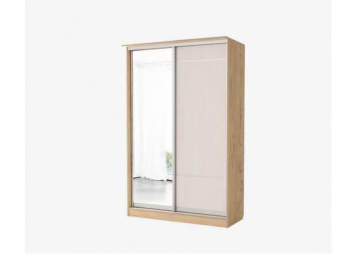 Светлана Шкаф 2х Купе Зеркало+Дверь №10 (2180x1540x710) в Калуге