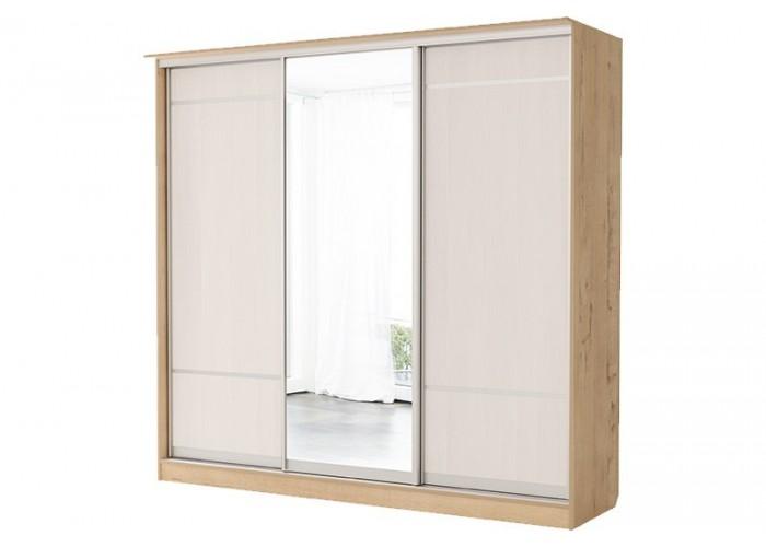 Светлана Шкаф 3х Купе Зеркало+Дверь+Зеркало №11 (2180x2280x710) в Калуге
