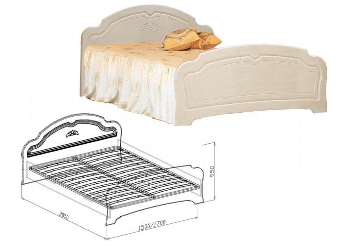 Валенсия Кровать №1 (950x1500x2050) в Калуге