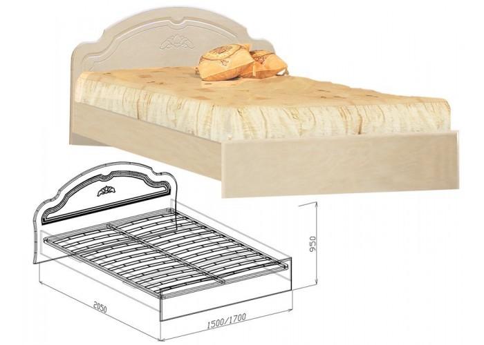 Валенсия Кровать №2  (950x1500x2050) в Калуге