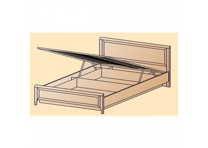 Кровать КР-1024 1,8х2,0 (1110(370)х1870х2080) в Калуге