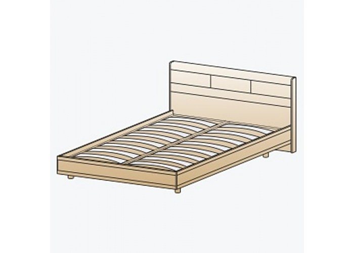 Кровать КР-2803 1,6х2,0 (1150(370)х1705х2080) в Калуге