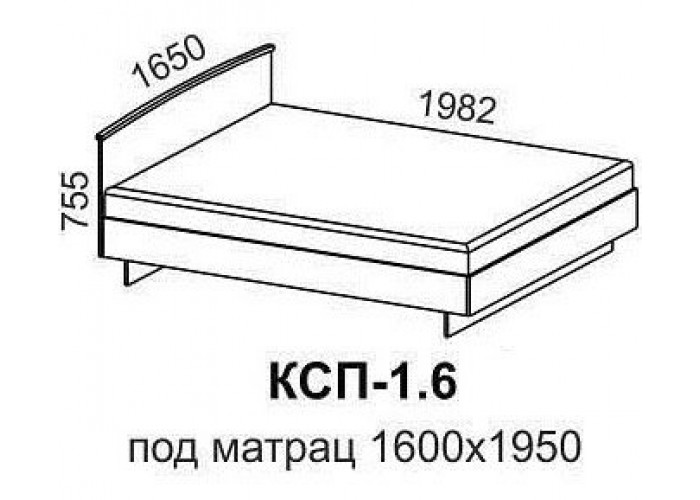 Кровать КСП-1,6 в Калуге