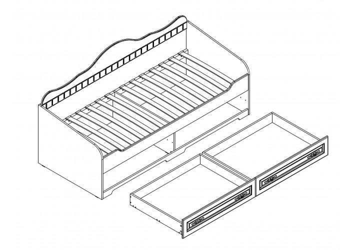 Кровать Прованс с ящиками (885x1945x840) в Калуге