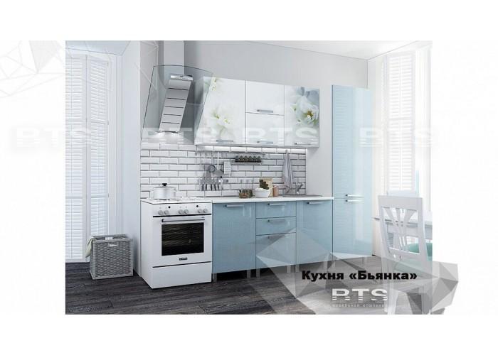 Кухня 2,1 Бьянка Голубые блестки в Калуге