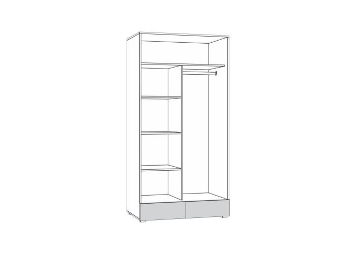 Линда 305 Шкаф 2-дверный в Калуге