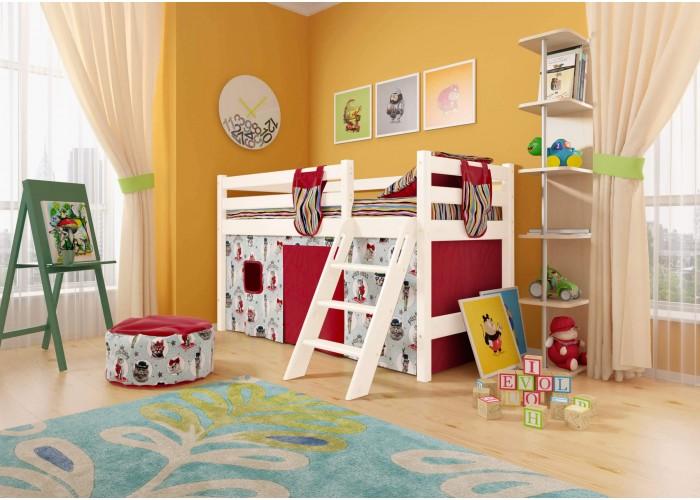 Низкая кровать Соня с наклонной лестницей Вариант 12 в Калуге