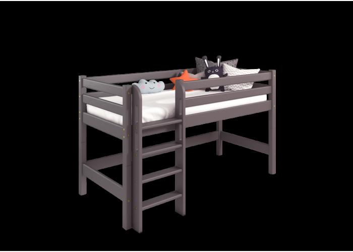 Низкая кровать Соня с прямой лестницей Вариант 11 в Калуге