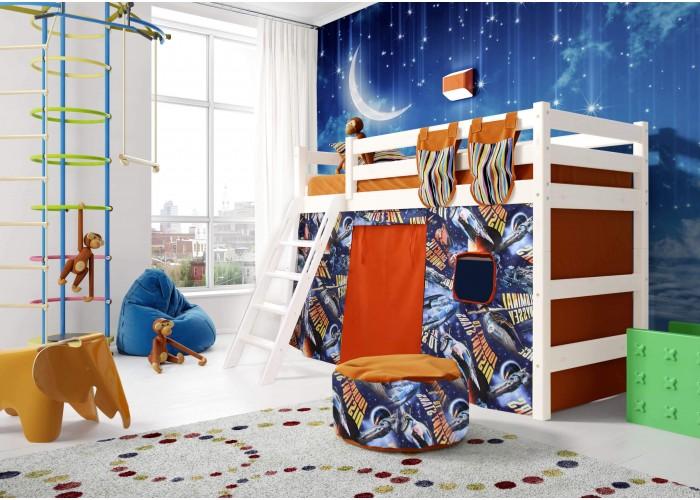 Полувысокая кровать Соня с наклонной лестницей Вариант 6 в Калуге
