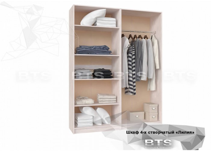 Лилия МДФ шкаф 4-х створчатый (2116x1596x560) в Калуге