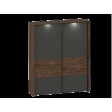 Шкаф с раздвижными дверями с обрамлением Глазго (2350x1900x650)