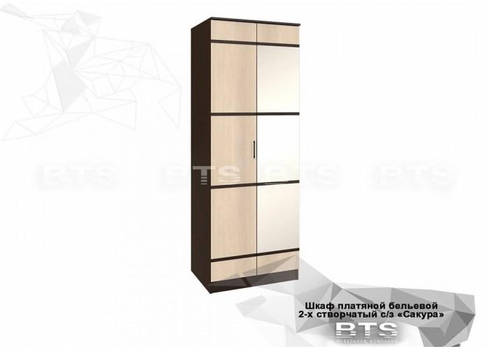 Сакура шкаф пл.бельев. 2-х ств. зеркала (2216x800x610) в Калуге