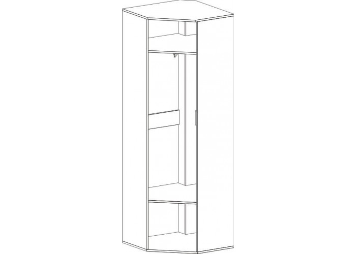 Шкаф угловой Фан (2100x700x700) в Калуге