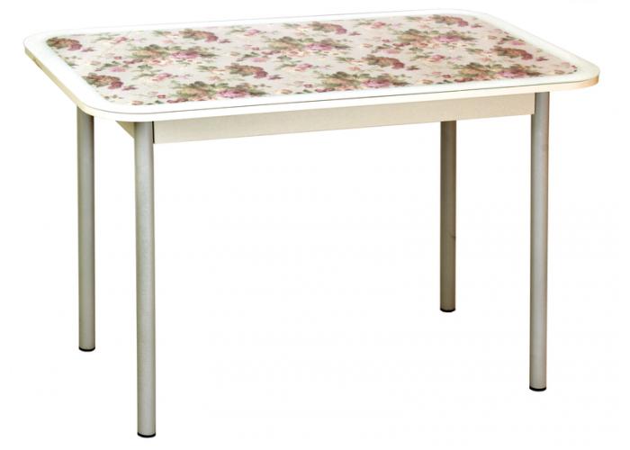 Стол обеденный Стиль 1 mini прованс/белый муар д.40 в Калуге