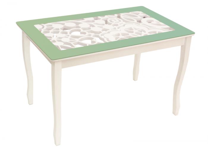 Стол обеденный Стиль 2 Ажур III оливковый/триумф белый в Калуге