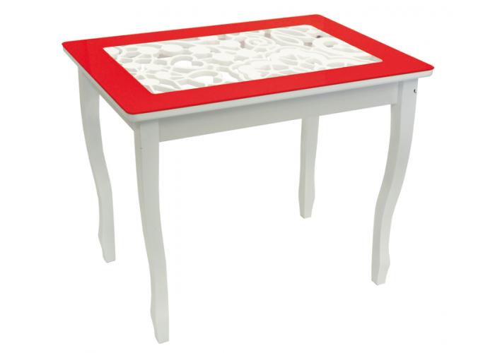 Стол обеденный Стиль 2 mini Ажур III красный/триумф белый в Калуге