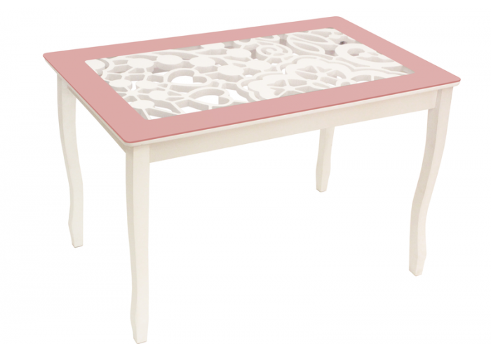 Стол обеденный Стиль 2 mini Ажур III пастель/триумф белый в Калуге