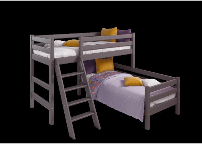 Угловая кровать Соня с наклонной лестницей Вариант 8 в Калуге