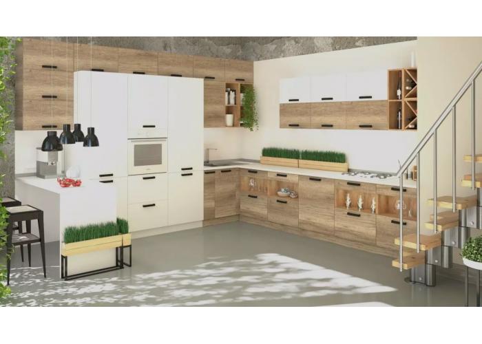 Кухонный гарнитур Фиджи 6,0 Белый/Крафт в Калуге
