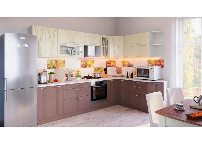 Кухонный гарнитур Лира 4,3 Ваниль/Латте в Калуге