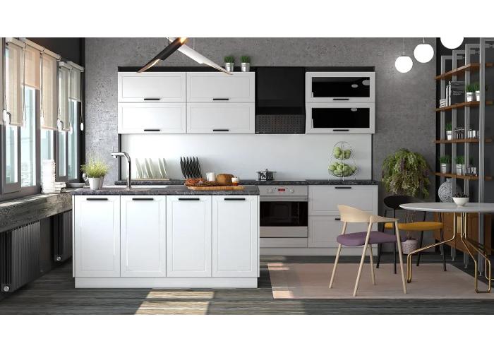 Кухонный гарнитур Монс 6,2 (с островом) Белый в Калуге