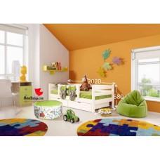 Детская кровать Соня с защитой по центру 4