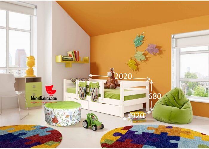 Детская кровать Соня с защитой по центру 4 в Калуге