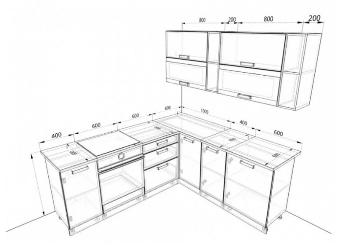 Кухонный гарнитур Аляска 3,0 Серый лед в Калуге