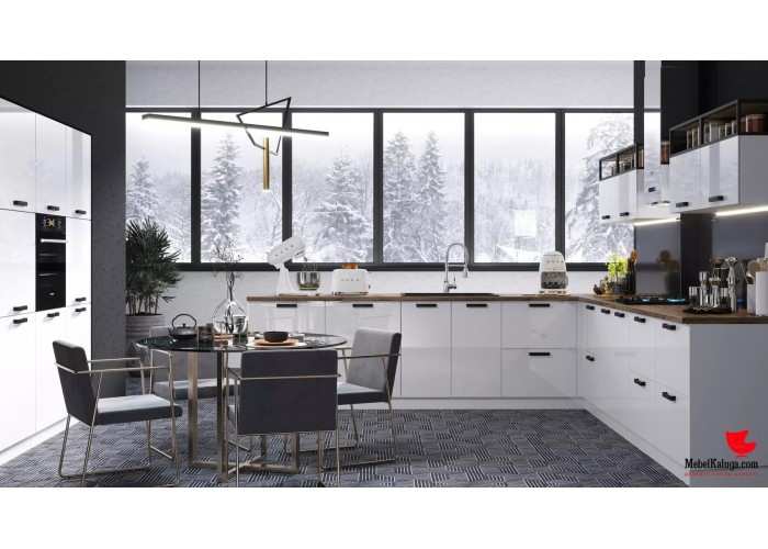 Кухонный гарнитур Аляска 2,6 Белый лед в Калуге