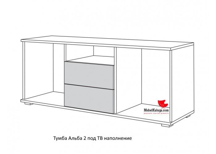 Альба 2 Тумба для TV 13.66 (496x1252x370) в Калуге