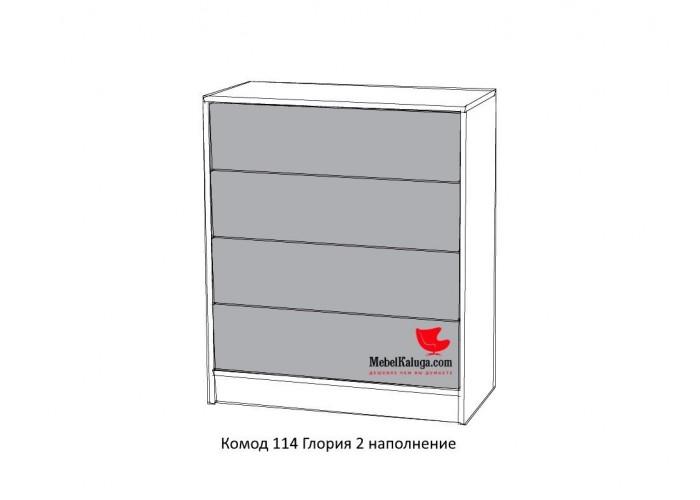 Глория 2 114 Комод (886x753x360) в Калуге