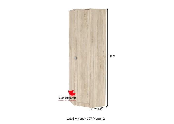 Глория 2 107 Шкаф угловой (2069x630(360)x630(360)) в Калуге